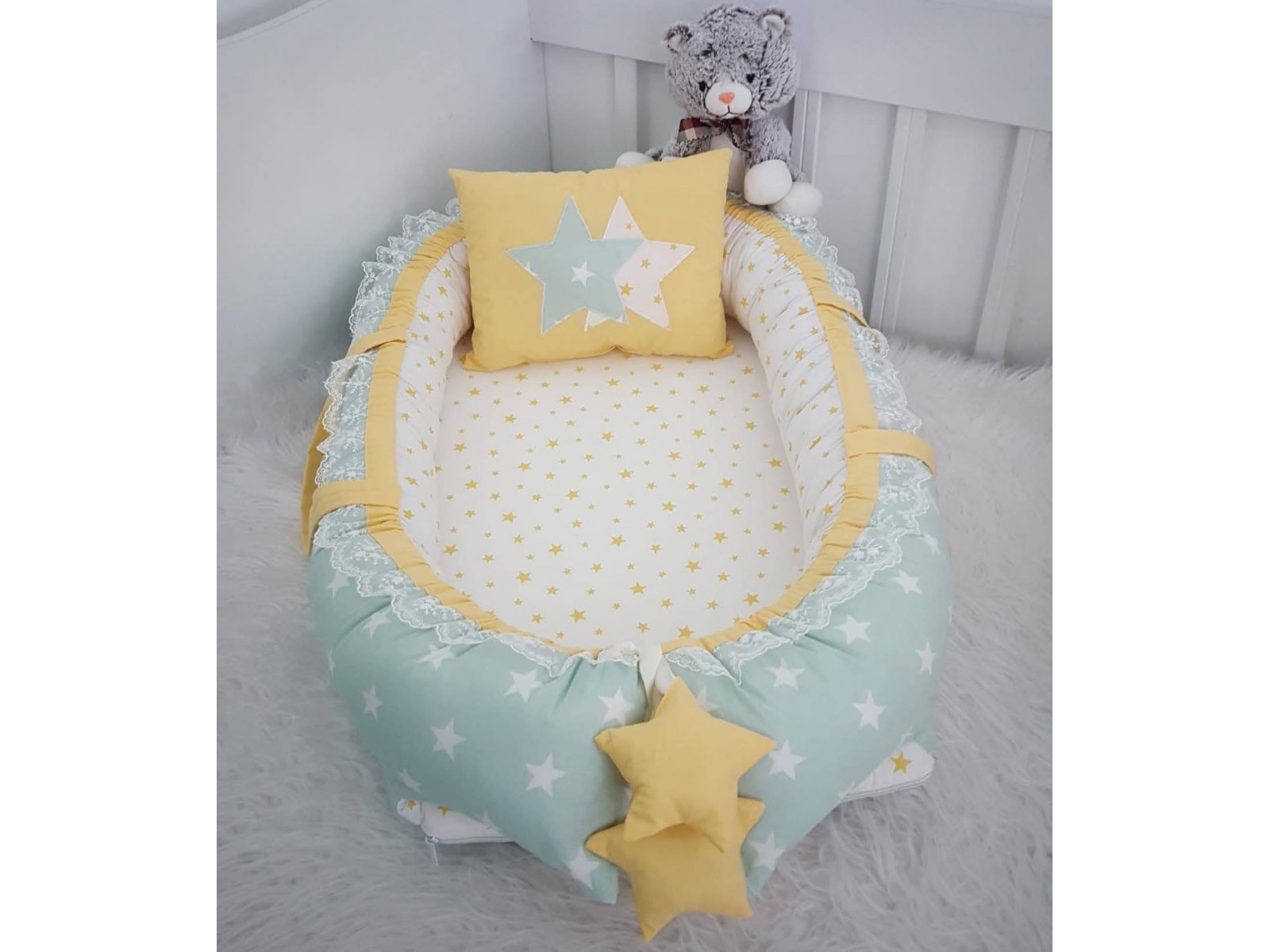 Bigstar Series Green Star Yellow Combination Star Design Babynest