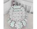 Babynest Grey Green Zigzag Grey Combine