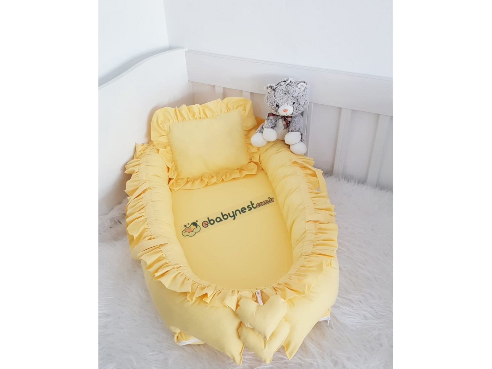 Solid Color Series Yellow Frilly Babynest