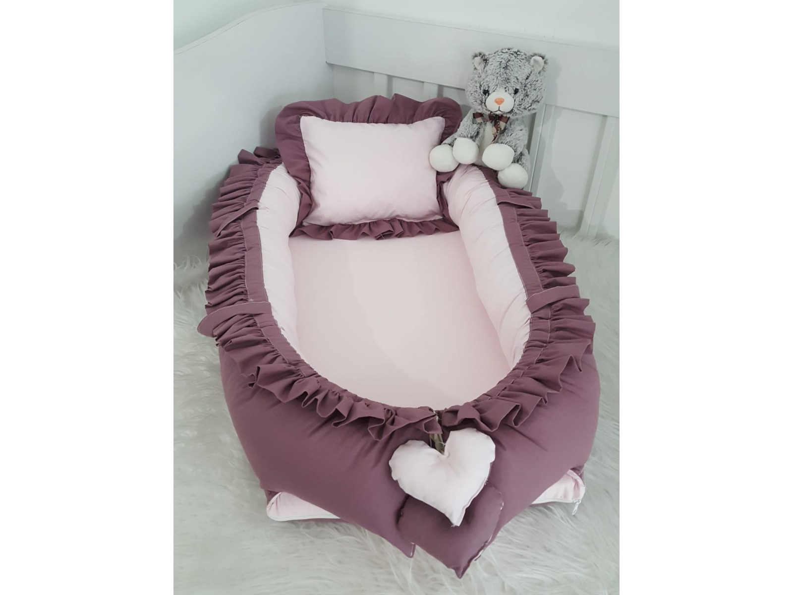 Solid Color Series Purple Frilly Babynest