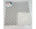 Grey Yellow Star Babynest Ponpon Babynest Cover