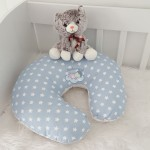 Breastfeeding Pillow Blue Star Grey Combine