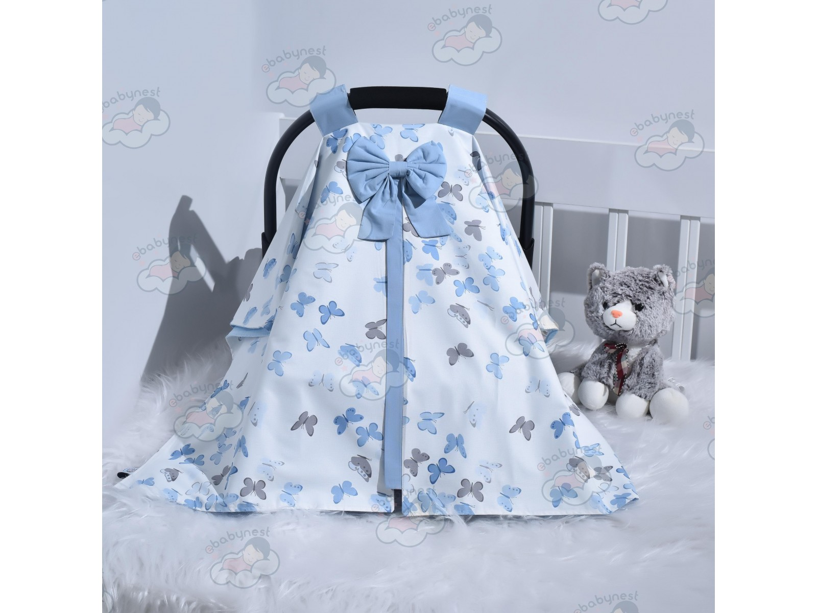 Butterfly Series Blue Stroller Cover v1