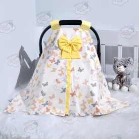 Butterfly Series Yellow Stroller Cover v1