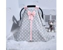 Star Series Grey Pink Stroller Cover