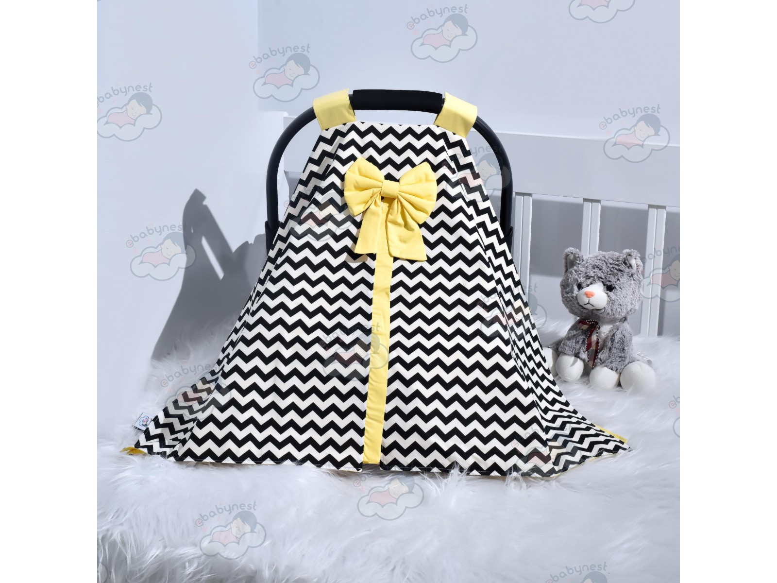 Zigzag Series Yellow Black Stroller Cover