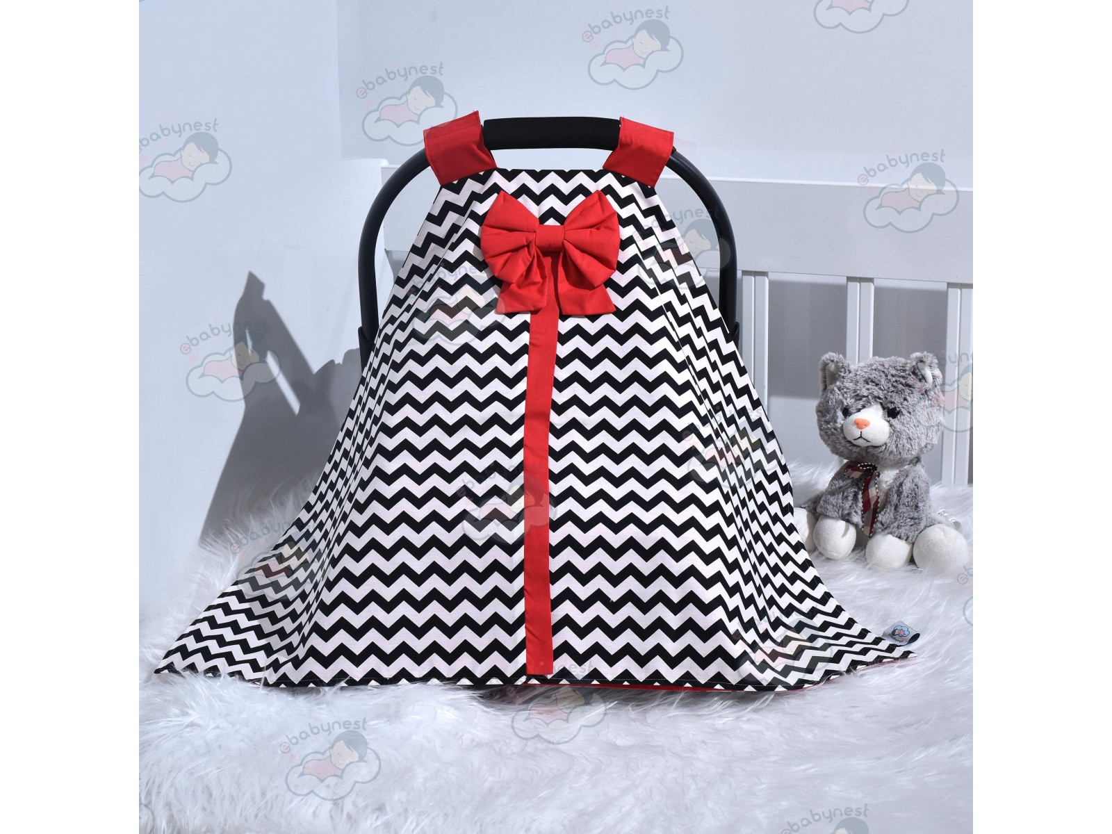 Zigzag Series Red Black Stroller Cover