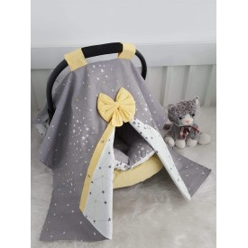 Galaxy Series Gray Yellow Stroller Cover