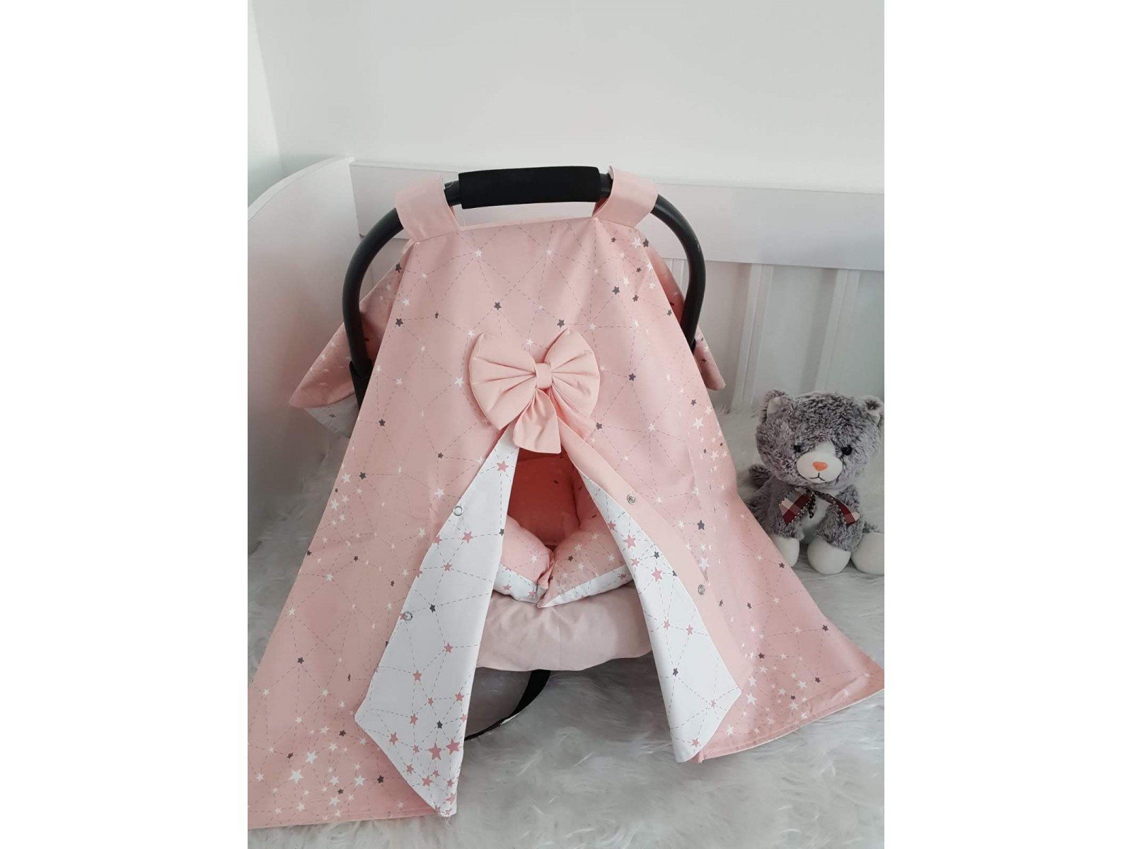 Galaxy Series Pink White Stroller Cover
