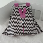 Zigzag Series Back Zigzag Purple Combine Stroller Cover