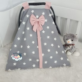 Big Star Series Dark Grey Star Powder Combine Stroller Cover