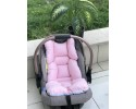 Solid Color Series Pink Stroller Bottom Cushion