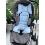 Solid Color Series Blue Stroller Bottom Cushion
