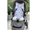 Butterfly Series Yellow Stroller Bottom Cushion