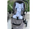 Butterfly Series Blue Stroller Bottom Cushion
