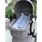 Star Series Gray Stroller Bottom Cushion
