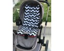 Zigzag Series Black Red Stroller Bottom Cushion