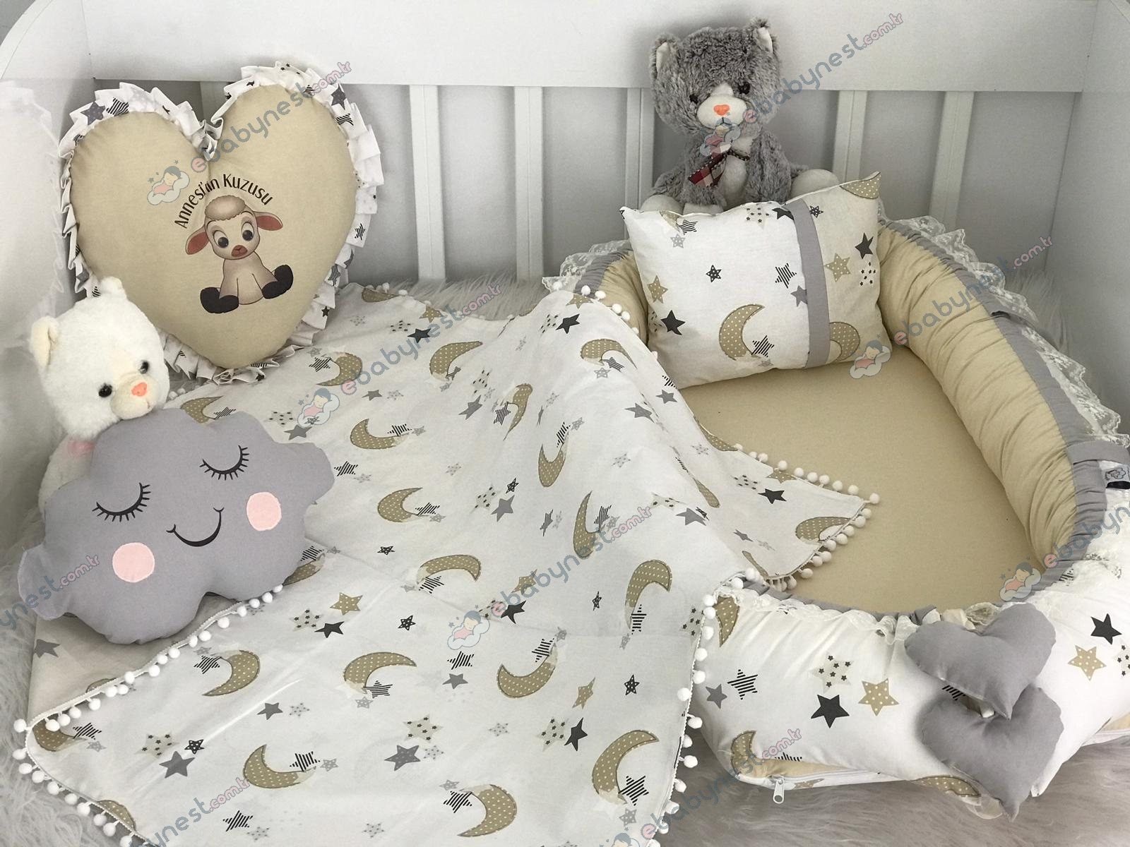 Moonlight Series Cappuccino Grey Babynest Set