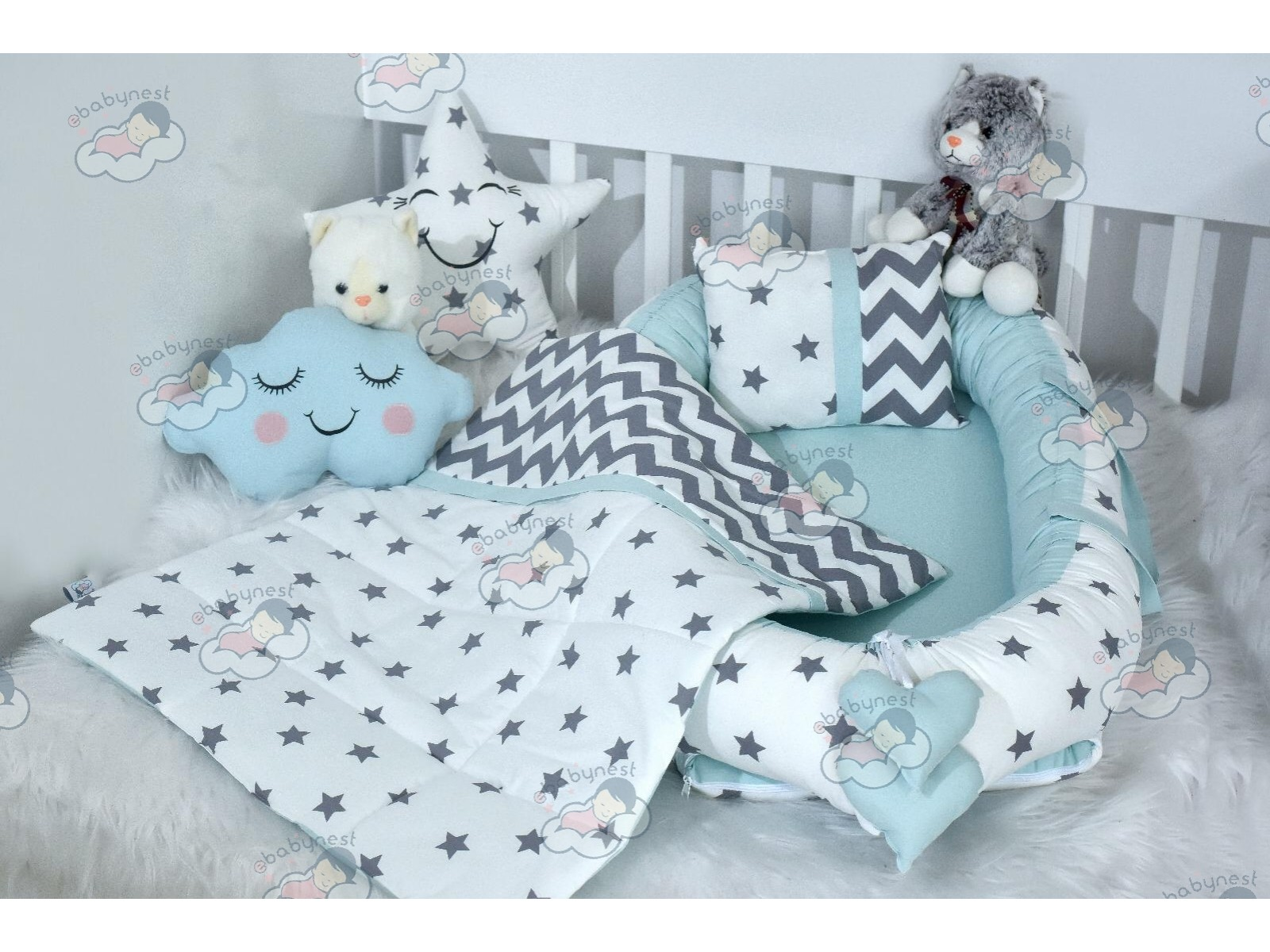 Big Star Series Water Green Babynest Set