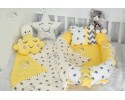 Big Star Series Yellow Babynest Set Ponpons