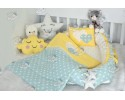 Star Series Water Green Yellow Babynest Set Heart Design
