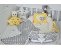 Star Series Yellow Babynest Set v1 Heart Design Ponpons