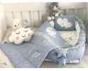 Galaxy Series Blue Babynest Set Heart Design