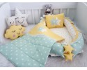 Big Star Series Water Green Yellow Babynest Set Star Design