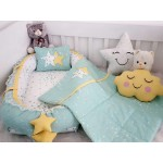Galaxy Series Water Green Babynest Set Star Design  v1