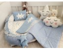 Galaxy Series Blue Babynest Set Star Design