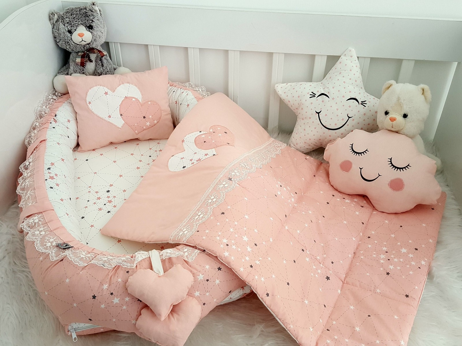 Galaxy Series Powder Babynest Set Heart Design v1