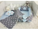 Big Star Series Dark Gray Blue Babynest Set Pompon