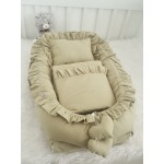 Solid Color Mink Babynest Set Frilly