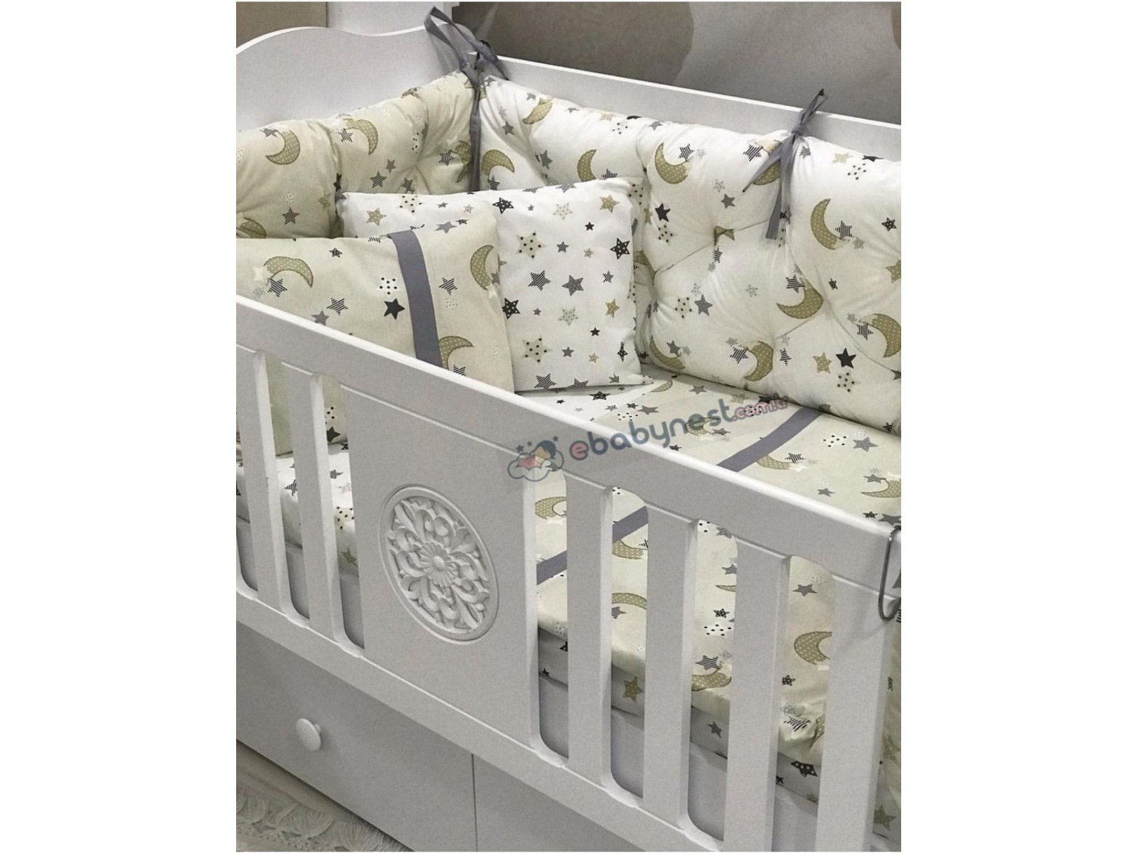 Moonlight Series Cappuccino Gray Sleeping Set