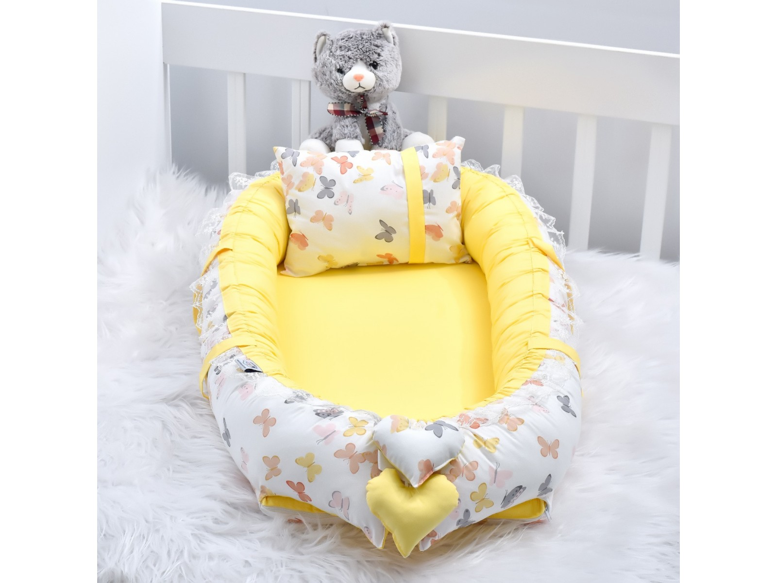 Babynest Yellow Butterfly Yellow Combine